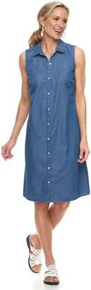 Croft & Barrow Women's Print Shirt Dress