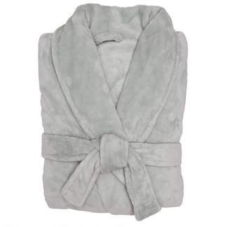 Silver Microplush Robe