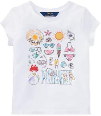 Polo Ralph Lauren Beach Bound Cotton Jersey Graphic T-Shirt, Toddler Girls