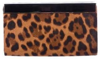 Jimmy Choo Cayla Leopard-Print Calf Hair Clutch