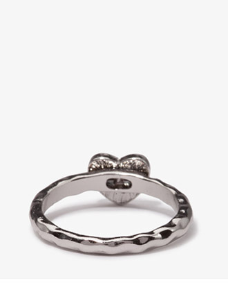 Forever 21 Mixed Metal Heart Ring