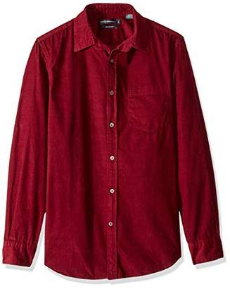 French Connection Men's Long Sleeve Corduroy Button Down Shirt