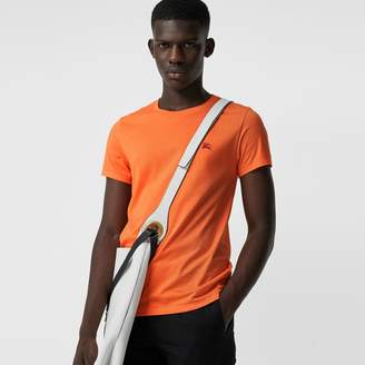Burberry Cotton Jersey T-shirt , Size: M, Orange