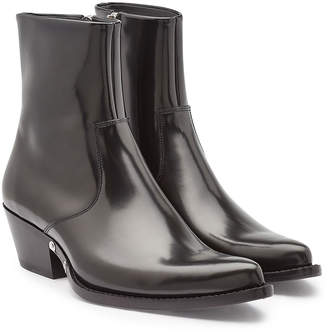 Calvin Klein Temo Leather Ankle Boots