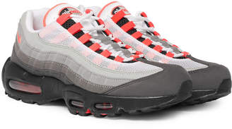 Nike Air Max 95 OG Grosgrain-Trimmed Faux Suede and Mesh Sneakers