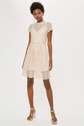 4e78ac2a11 at Topshop ·   Pete Lace Mini Skater Dress by Lace   Beads