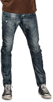 One Teaspoon Mr. Golds Distressed Jeans, Blue Maiden