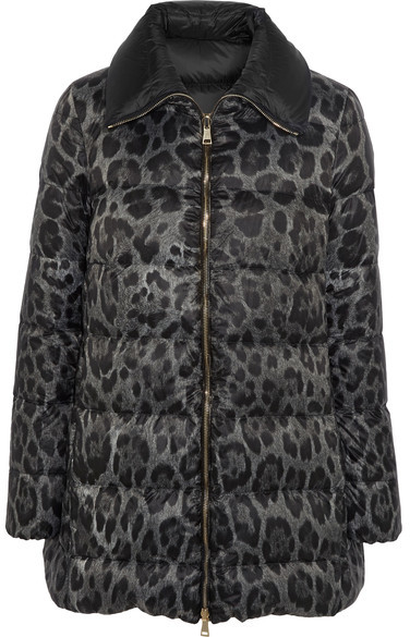 Moncler Moncler - Alimede Leopard-print Quilted Shell Down Coat - Leopard print
