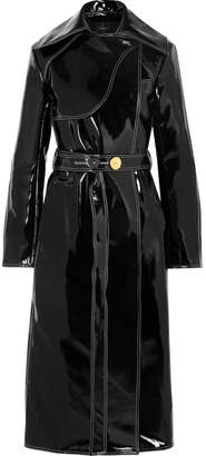Ellery Legion Belted Vinyl Trench Coat - Black