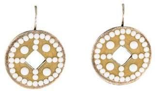 Gas Bijoux Crystal & Enamel Drop Earrings