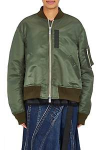 Sacai Women's Pleat-Back Bomber Jacket-Khaki