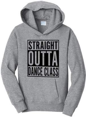 Dance Class Tenacitee Girl's Youth Straight Outta Hooded Sweatshirt