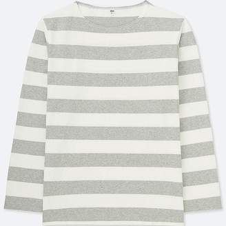 Uniqlo Men's Washed Striped Long-sleeve T-Shirt