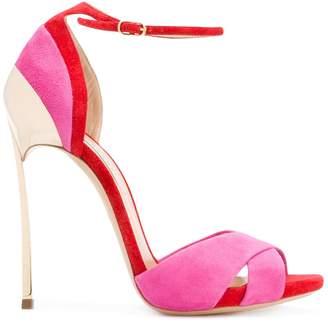 Casadei Techno Blade crossover strap sandals