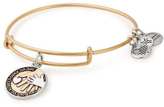 Alex and Ani Hand-In-Hand Two-Tone Charm Bangle