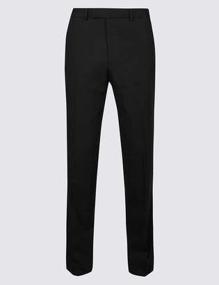 Marks and Spencer Big & Tall Black Tailored Fit Trousers