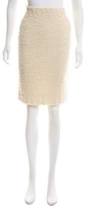 Calvin Klein Collection Shearling Knee-Length Skirt