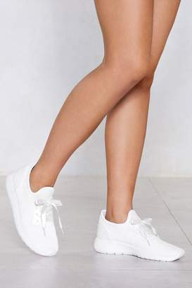 Nasty Gal Knit Back Ribbon Sneaker