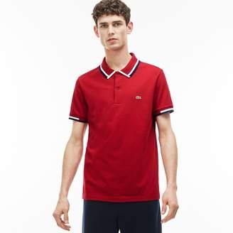 Lacoste Men's Regular Fit Tricolor Neck Jersey Polo