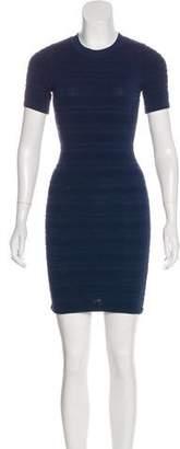 Torn By Ronny Kobo Rib Knit Bodycon Dress