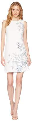 Vince Camuto Sleeveless Botanical Floral Printed Shift Dress Women's Dress
