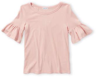 Splendid Girls 7-16) Pink Ruffle Sleeve Top