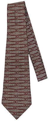 One Kings Lane Vintage Hermès Red & Gray Springs Silk Tie