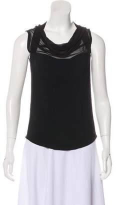 Narciso Rodriguez Silk-Trimmed Sleeveless Top