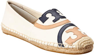 Tory Burch Poppy Canvas & Leather Espadrille