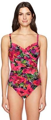 Penbrooke Women's Style Sense Criss Cross One Piece Swimsuit