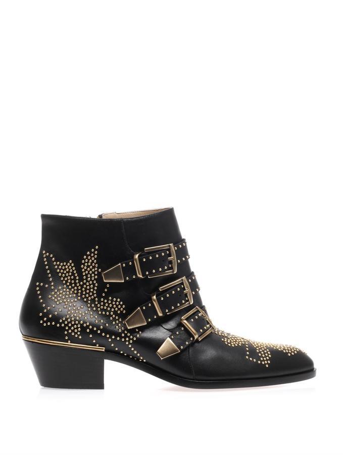 Chloé Susannah studded leather ankle boots