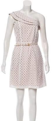 MICHAEL Michael Kors One-Shoulder Eyelet Dress
