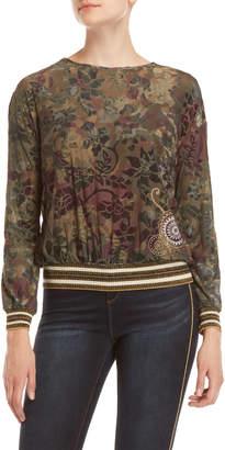 Desigual Floral Varsity Pullover