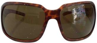 Chanel Brown Plastic Sunglasses
