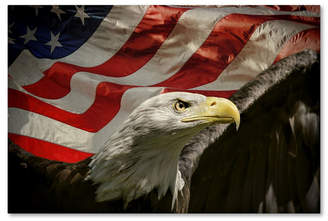 "American Eagle (アメリカン イーグル) - Jai Johnson 'American Eagle' Canvas Art - 19"" x 12"" x 2"""