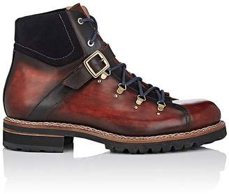 Harris Men's Buckled-Strap Leather Hiker Boots