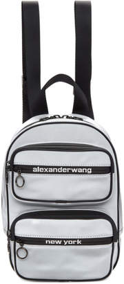 Alexander Wang Silver Medium Reflective Attica Backpack
