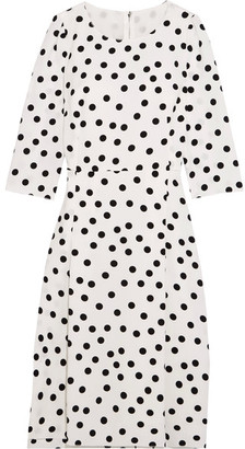 Dolce & Gabbana - Polka-dot Cady Dress - White $2,395 thestylecure.com