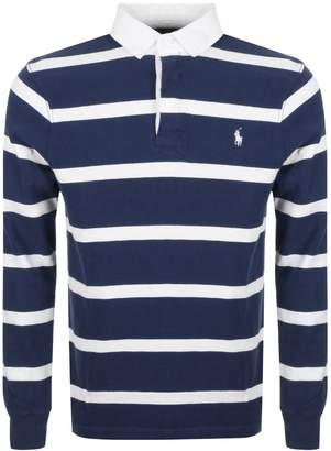 Ralph Lauren Rugby Stripe Polo T Shirt Blue