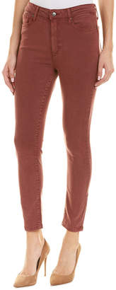 Joe's Jeans The Charlie Red Mahogany High-Rise Skinny Leg