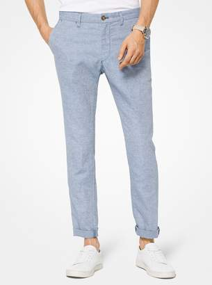 Michael Kors Slim-Fit Linen Chinos