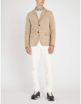 Eleventy Notch-lapel suede jacket