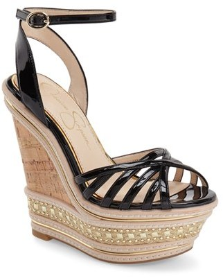 Women's Jessica Simpson 'Aimms' Studded Platform Wedge Sandal $118.95 thestylecure.com