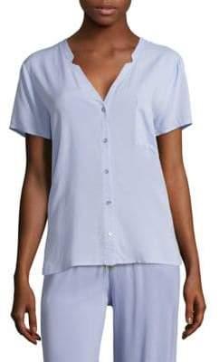 Hanro Sleep & Lounge Woven Short Sleeve Shirt