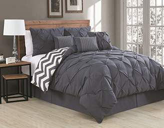 Geneva Home Fashion Avondale Manor 7-Piece Ella Pinch Pleat Comforter Set