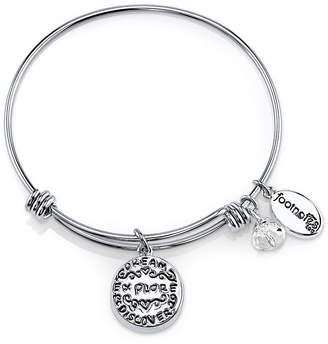 JCPenney FOOTNOTES TOO Footnotes Too Stainless Steel Dream Bangle