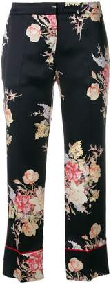 Alexander McQueen cropped pyjama-style trousers
