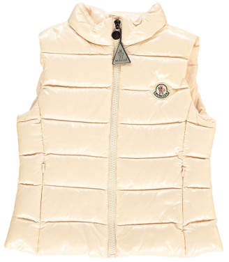 Moncler Sleeveless Ghany Down Jacket with Hood