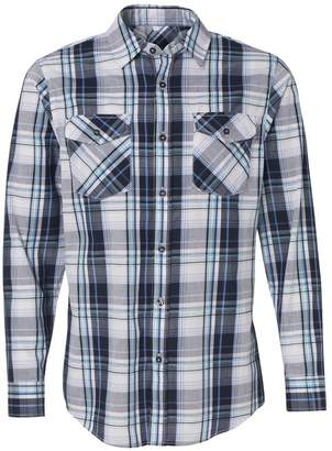 Burnside Long Sleeve Plaid Shirt.B8202