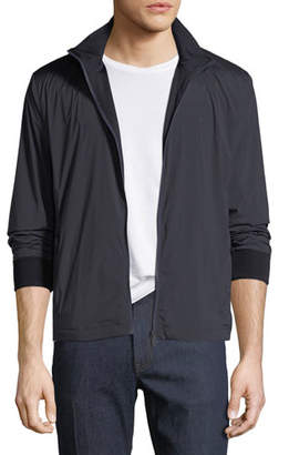 Z Zegna-Techmerino Reversible Zip-Front Blouson Jacket